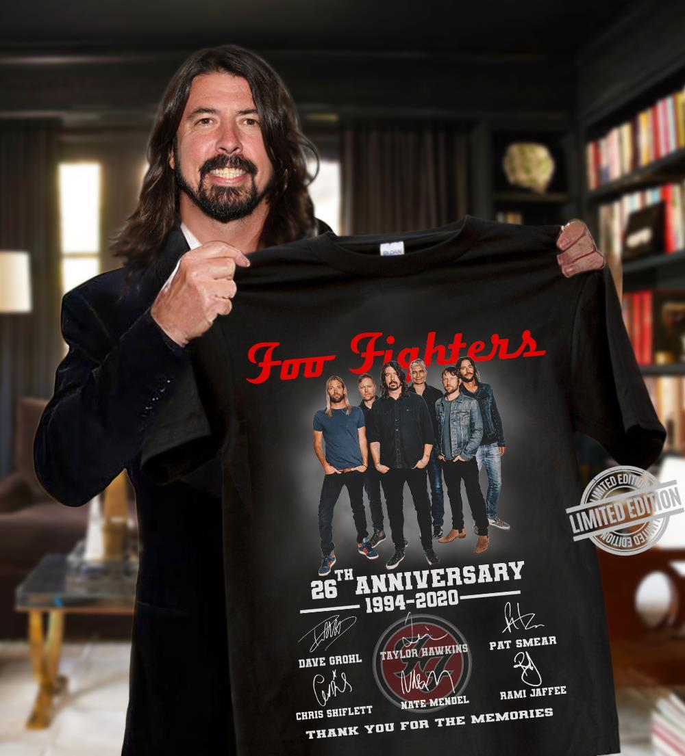 Foo Fighters 26th Anniversary 1994-2020 Thank You For The Memories Shirt